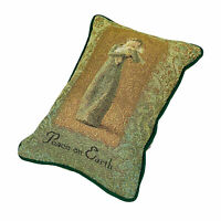 Willow Tree Peace on Earth Angel Holding Lamb Tapestry Word Pillow ~ Susan Lordi