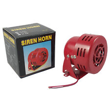 12V CIVIL RED AIR RAID SIREN HORN TORNADO ALARM MOTOR DRIVEN POLICE FIRE