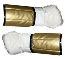 Mighty Morphin Power Rangers White Ranger Gloves Cuffs - Synthetic Leather