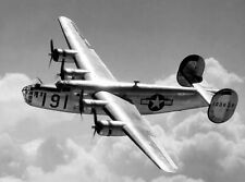 WWII Photo B-24D Liberator Bomber in Flight  WW2 / 5035