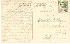 1909 Coleman, Wisconsin Duplex Cancel on Postcard Floral Best Wishes