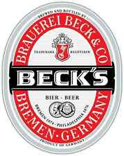 "Beck's Beer Alcohol Car Bumper Window Locker Sticker Decal 4""X5"""
