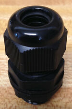 """3/8 """" NPT - Strain Relief Cord Grip Cable Gland w/nut + gasket - NEW"""