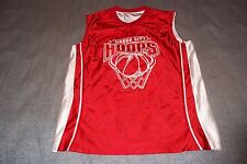 Mason City Hoops Basketball Jersey Reversible Red and White Mens Small
