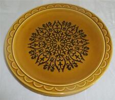 3 Vintage Coventry Castilian USA Honey Golden Brown Black Ornate Dinner Plates