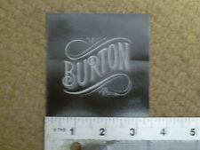 Burton Black Square Sticker Decal