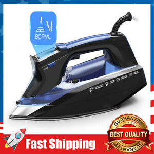 1800W LCD Screen Steam Iron 11 Temperature and Fabric Settings Steam Iron