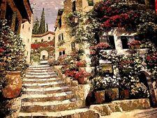 Floral garden Tapestry by artist Howard Behrens