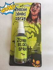 Zombie Red Blood Splatter Spray Theatrical Halloween Make Up Special FX 59ml