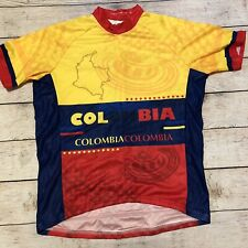 Mens Colombia Scudo Pro Bike Short Sleeve Cycling Jersey - Size Xl Euc