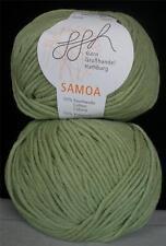 COTTON ACRYLIC GGH SAMOA MEDIUM WORSTED WEIGHT 50 GR 1 BALL COZY GREEN (12P)