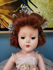 "Vintage Arranbee R&B Nanette 14"" Walker Doll Princess Queen Of The Ball"