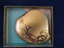Elgin Compact - Heart Shaped n Gold Tone w Box & Pouch (817)