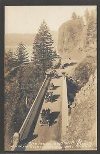 Postcard Oregon USA Columbia River Highway motor cars Shepherds Dell early RPPC