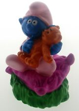 Smurf Baby with Teddy (9 cm )