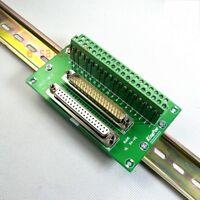 DIN Rail Mount D-SUB DB37 Male / Female Module Breakout Board Terminal Block M/F