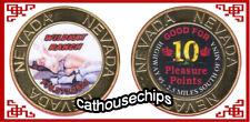 Wildkat Ranch Mina Nevada Brothel Gold Metal Cathouse Token - Coin