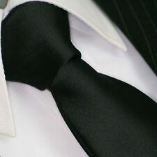 Krawatte Krawatten Schlips Binder de Luxe Tie cravate 582 schwarz