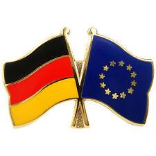 Freundschaftspin Deutschland - Europa  Anstecker Anstecknadel Fahne Doppelpin