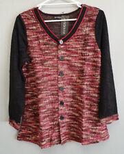 BNWT Ladies Sz 18 Eversun Brand Gorgeous Red Black White Long Sleeve Tunic