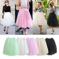Skirt summer formal Tutu Pleated Maxi Mesh Boho Princess Midi Skirt