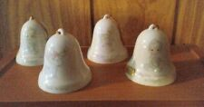 Set Of Three Vintage 1985 Enesco Precious Moments Bells, Plus 1 Duplicate Bell