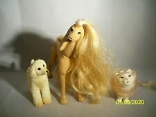LOT OF 2 BARBIE DOLL DOGS ANIMALS PETS AND CAT