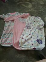 Lot of 3 Carters 0-9 Month Baby Girl