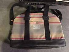 Hex Laptop Duffel Plaid Striped Messenger Work Bag NWT Shoulder Cross-body New!