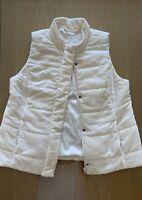 J. Jill White Down Filled Zip Puffer Vest Women's Size Medium Jacket Winter