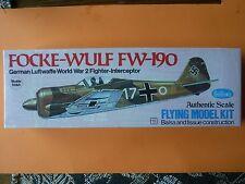 Vintage Guillow's FOCKE-WULF Fw-190 balsa/tissue model airplane kit #502- sealed