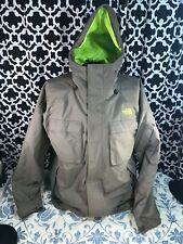 The North Face Triclimate Hyvent Waterproof Brown Neon Green Jacket - Sz. XL