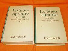 lo stato operaio 1927-1939 antologia a cura di franco ferri editori riuniti 1964