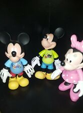 """Mickey minnie mouse disney parks 2009 2010 articulated 9"""" figure lot"""