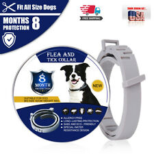 Flea and Tick Collar for Dogs&Cats Large Adjustable Waterproof Collar 8 Month