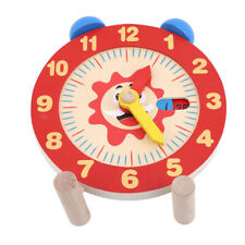 Wooden Teaching Aid Time Learning Clock Toy Learn Time Educational Clock Toy CB