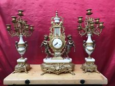 Franz Hermle' Imperial Bronze Clock and Candelabras.