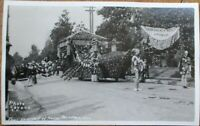 Pasadena, CA 1920 Realphoto Postcard: Tournament of Roses Parade- California Cal
