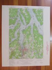 Olympia Washington 1958 Original Vintage USGS Topo Map