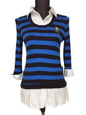 New U.S. Polo Assn Womens 3/4 Long Sleeve Crewneck Sweater Size Small or Medium