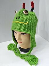 Funny Animal Hand Knitted Himalayan Wool Ski Beanie Trooper Hat Made in NEPAL 21