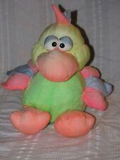 Vintage PRESTIGE NAKAJIMA PARROT Bird Chicken Squeaker Puffalump Nylon Neon