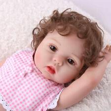 "Reborn Baby Girl Dolls 18"" Full Body Silicone Vinyl Doll Handmade Xmas Gifts"