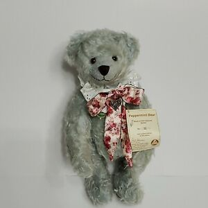 Vtg Hermann Peppermint Bear Mohair Teddy  Growler Limited Edition 32 of 500 tags