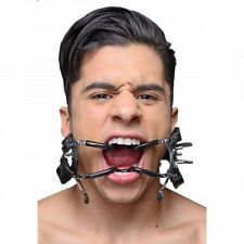 Ratchet Style Jennings Mouth Gag BDSM w Faux Leather Strap Bondage Steel Master