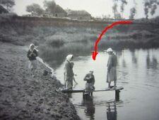 120) Foto RUSSLAND Ostfront - russische FRAUEN waschen am Teich - Armut