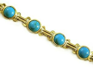Vintage Turquoise  bracelets Authentic 1/20 -14k Gold Filled 6, 7 or 8 inch