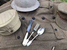 Genuine British Army  WW1  Knife Fork Spoon 08 Pattern Early Ww2 Dunkirk Rare