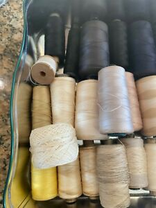 Vintage Job Lot 32 Sewing Thread Cotton and Polyester Good Quality Mixed Colour