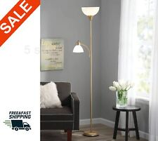 gold Metal Floor Lamp with Reading Light Living Room...